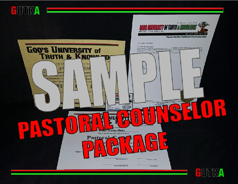 Pastoral Counselor Package